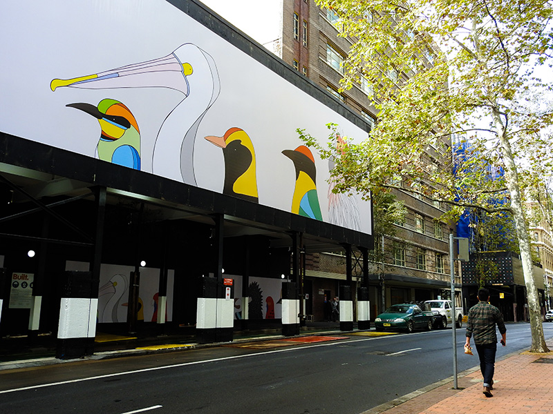 Eggpicnic - Birds of Australia - City of Sydney - Hoardings