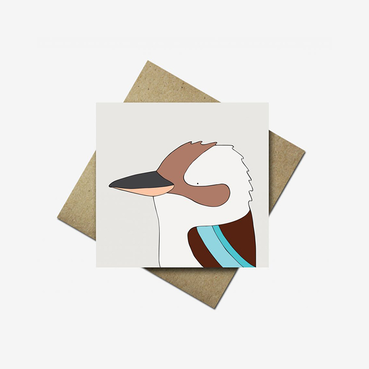 Kookaburra Greeting Card - Bird Art - Eggpicnic