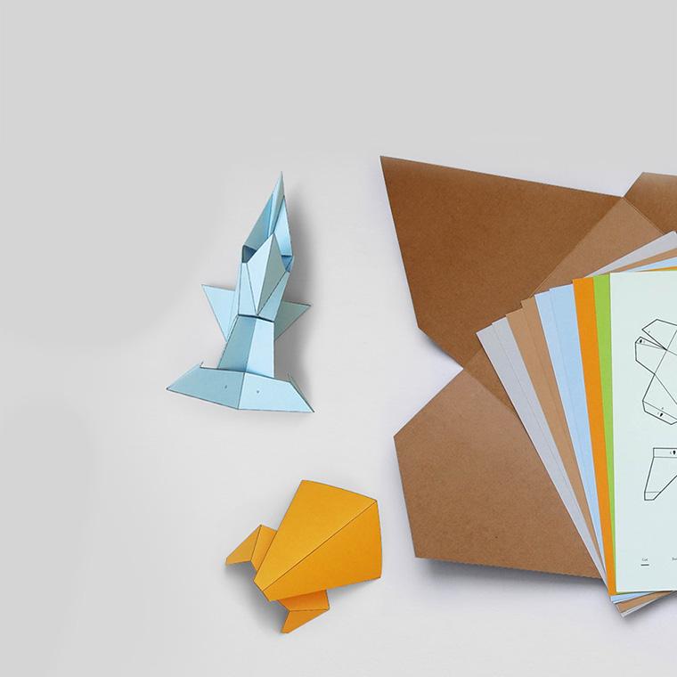 The Ark - Paper folding animal kit - Eggpicnic